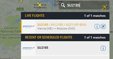 Flight live information, traffic radar