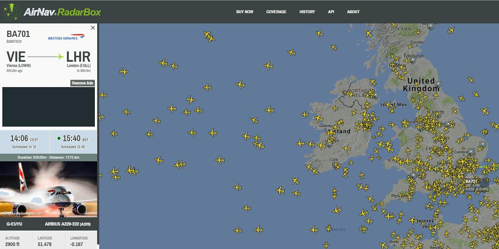 RadarBox24 – popular aircrafts tracker online