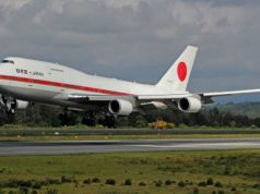 Boeing 747 crashed in Japan