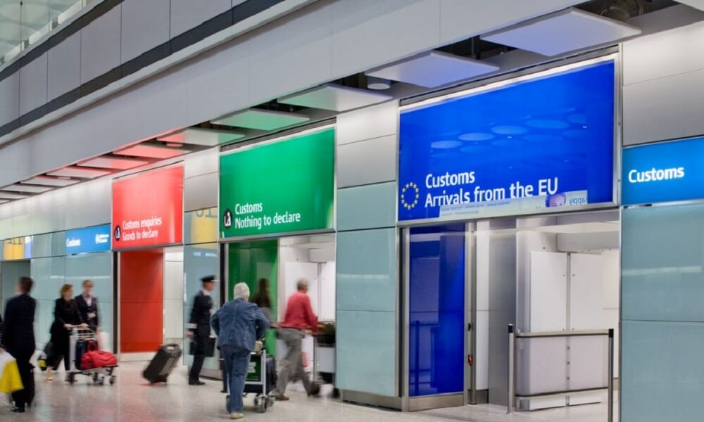 Customs office at Heathrow