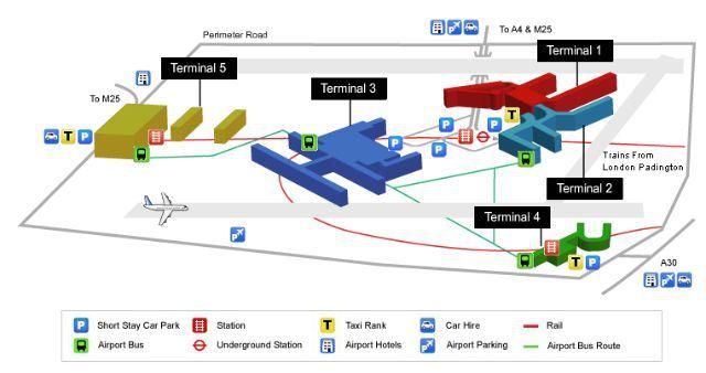 Heathrow (LHR) Terminal 3 > Hotels, Postcode, Parking ...