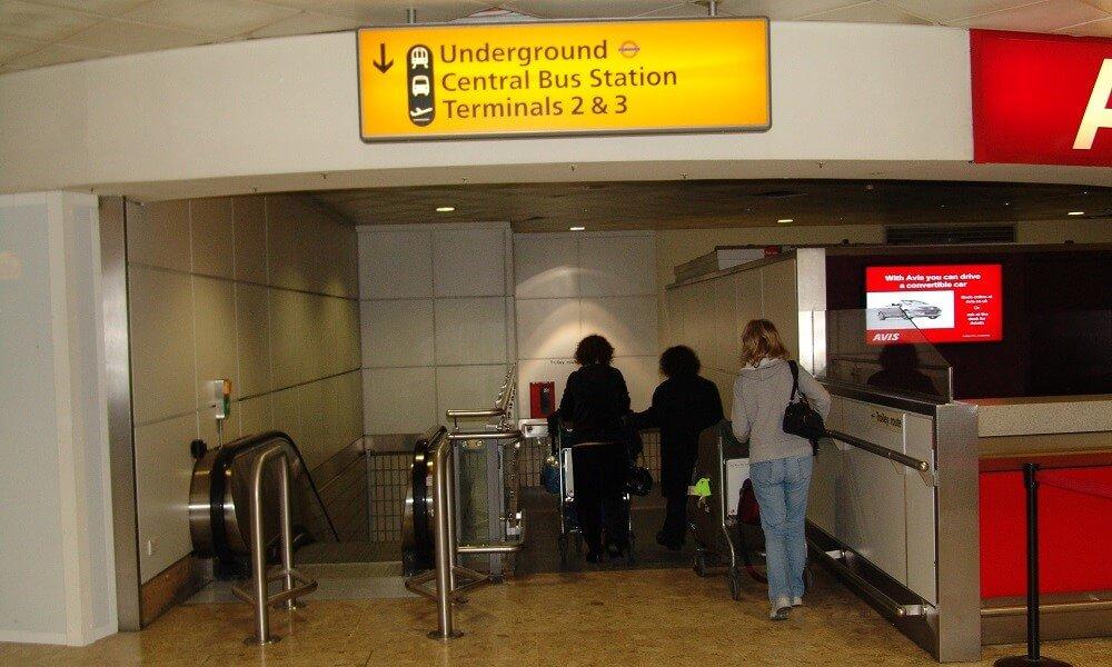 Heathrow underground Terminal 3