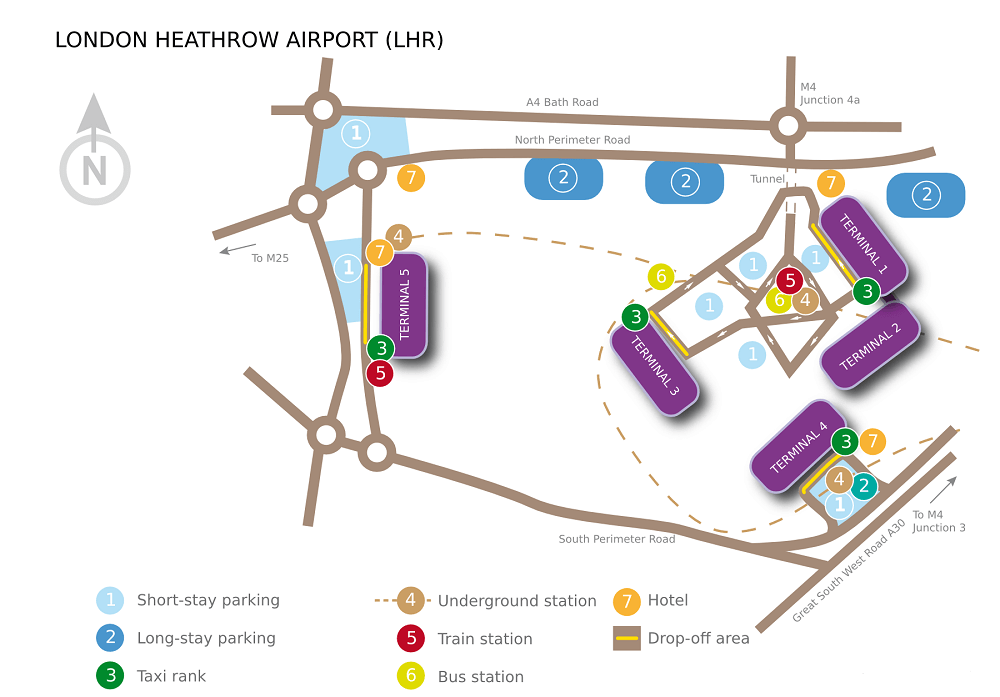 How to get to the Heathrow terminal 2