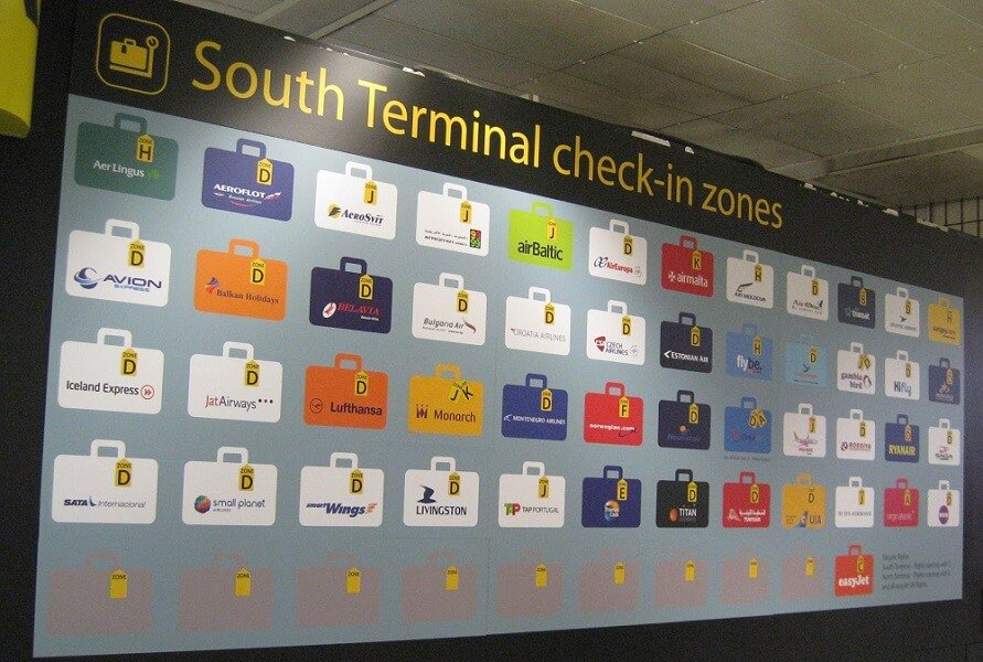 South terminal at Gatwick check-in