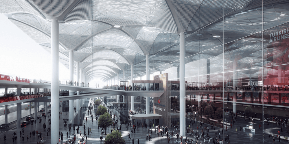Terminals at the New Airport of Istanbul