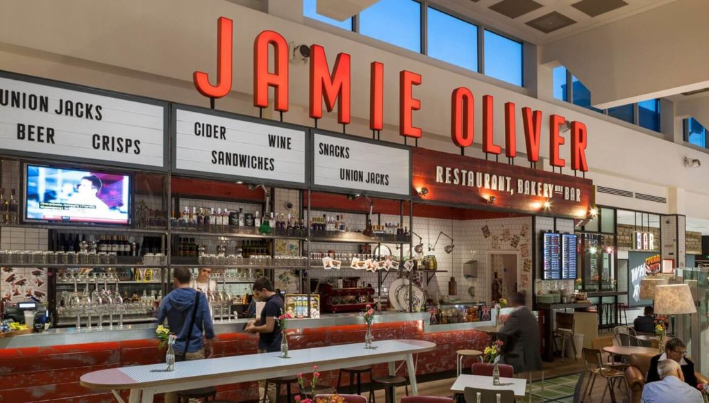Jamie Oliver at Gatwick