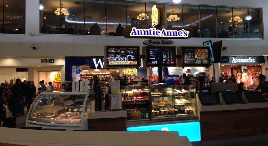 Shops at Luton airport