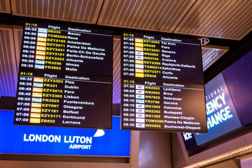 Luton Departures Board