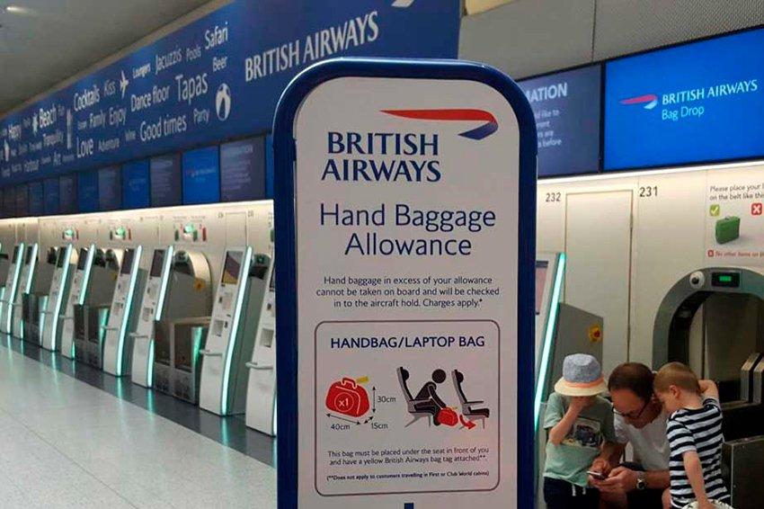 British Airways hand baggage allowance