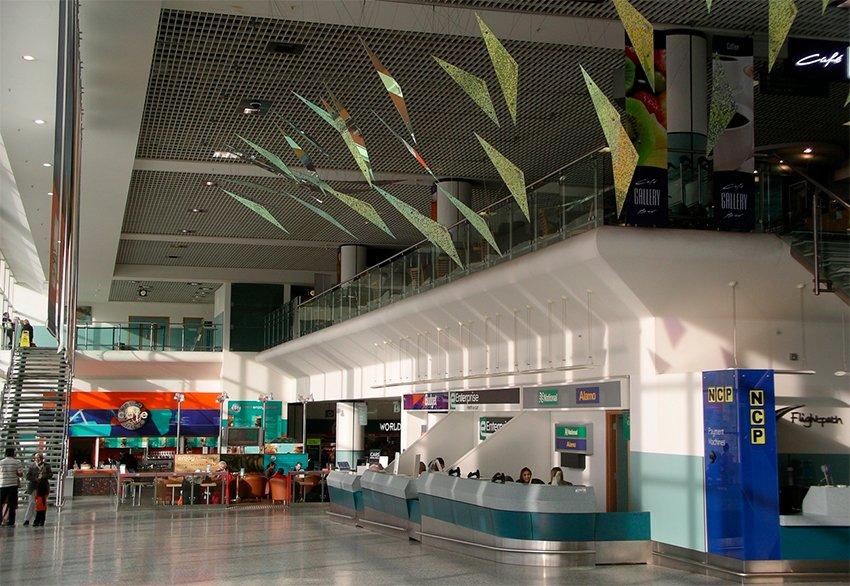 Birmingham Airport Arrivals lounge