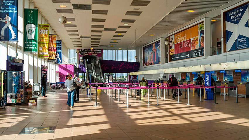 glasgow airport check in times for domestic flights